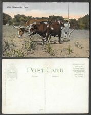 Old Mexico Postcard - Ox Plow - Farm, Farming