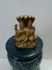 Brass metal  lord vishnu and lakshmi laxmi 3 inch height  USA Seller fast ship