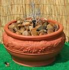 Water Feature Pebble Pool Fountain Garden Patio Outdoor Bowl Terracotta Colour