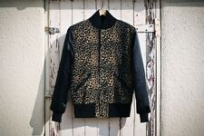 B-Side by Wale Cheetah Leopard Varsity jacket size Small Bomber New with tag