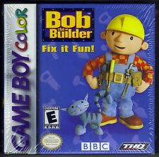 GBC Bob The Builder Fix it Fun! (2001) Brand New & Nintendo Factory Sealed