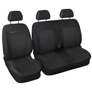Van seat covers fit Volkswagen Transporter T6 grey P4
