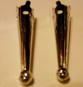 2 piece NEW (1 Pair) ~GOLD~ BOLO BOLA TIE Tips FINDINGS Old Store Inventory
