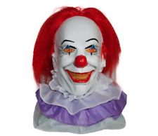CLASSIC IT PENNYWISE THE CLOWN Deluxe Adult Overhead Latex Mask Halloween