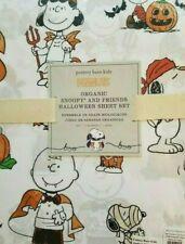 Pottery Barn Kids Snoopy and Friends Halloween Sheet Set Twin Peanuts