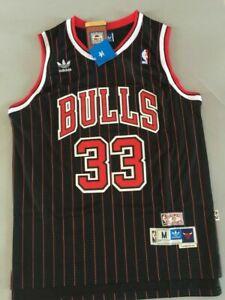 Men's Scottie Pippen Chicago Bulls Throwback Swingman Striped Jersey Size S-XXL