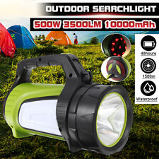 10000MAh 3500lm 500W 1500m Portable Waterproof Rechargeable Torch