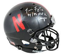 Nebraska Tommie Frazier 94/95 Nat'l Champ Signed Black Schutt F/S Rep Helmet BAS