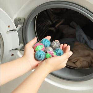6pcs Magic Hair Removal Laundry Ball Clothes Washing Machine Cleaning YJYAH L^