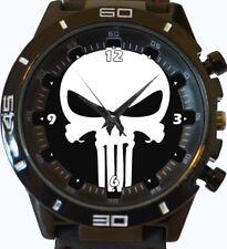 Reloj de Pulsera cráneo Gótico Punisher Nueva serie de deportes de moda Unisex Regalo