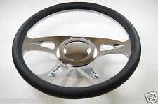 "14"" Chrome Aluminum Seering Wheel CAROUSEL GM Chevy Custom Half Wrap"
