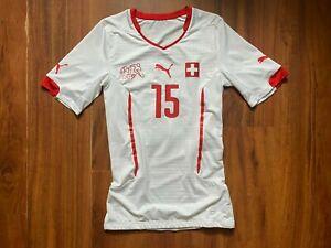 SWITZERLAND FOOTBALL SHIRT 2014-2016 PLAYER ISSUE ORIGINAL JERSEY SIZE M