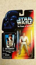 Star Wars Power of the Force: LUKE SKYWALKER w/ Light Saber & Grappling Hook NIP