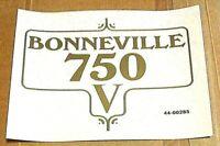 Framed Bonneville 750 V Side Panel transfers UK / US Triumph T140 1973-75, pair