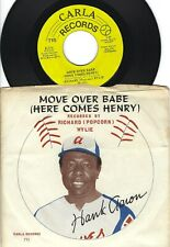 """R&B - RICHARD (Popcorn) WYLIE 45 & Pic slv - """"MOVE OVER BABE (Here Comes Henry)"""""""