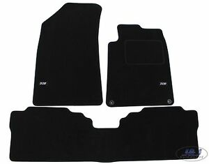 TAILORED Black floor Car Mats with logo for PEUGEOT 508 2010-2019 3pcs