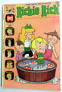 RICHIE RICH Comic BOOK Jan '75  #130 VG- 3.5 Poor Little RICH BOY Little LOTTA