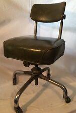 Green Office Swivel Desk Chair Industrial  Vintage Mid Century Tanker Steelcase