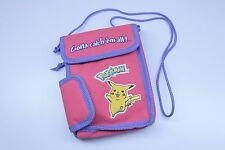 Pokemon Pikachu Pink Purple Nintendo Game Boy DS Handheld Carry Travel Case Bag