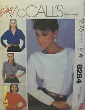 Vintage McCall's Sewing Pattern 8284 Misses Blouse 3 Versions Size S 10-12 1982