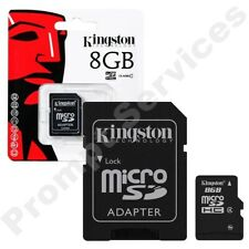 Kingston Micro SD 8GB SDHC Memory Card Mobile Phone Class 4 With SD ADAPTER