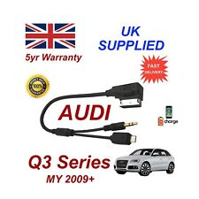 Para Audi Q3 Cable De Audio Samsung Galaxy S3 S4 S5 S6 3.5 mm Cable Micro USB y AUX L