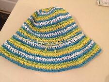 Girl's Straw Hat Toddler One Size Summer Easter Super Cute NWT