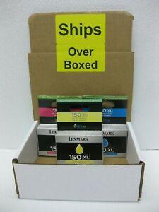 Lexmark 150XL Ink Genuine 14N1807 14N1615 14N1616 14N1618 ** SHIPS OVERBOXED **