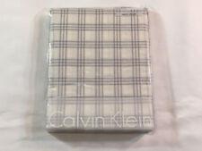 Calvin Klein Euro Pillow Sham - Camden Silver Grid Ivory