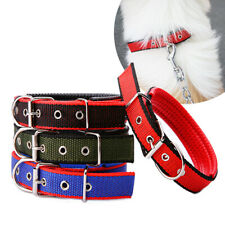 Adjustable Small Pets Dog Cat Pull Strap Nylon Sponge Buckle Collar Necklace 1pc