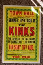 The Kinks Concert Tour Poster Town Hall Castle Circus Torquay 1966
