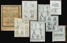 c1830 Musterbuch Möbel des Klassizismus Parkett Türen Fenster Vorlagen-Katalog