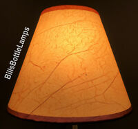 """Rustic Cottage CRACKLE Table Light LAMP SHADE Clip-On Bulb Style 9"""" inch Cone"""