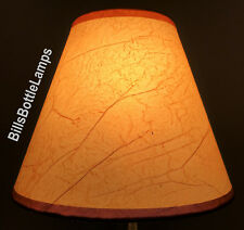 "Rustic Cottage CRACKLE Table Light LAMP SHADE Clip-On Bulb Style 9"" inch Cone"