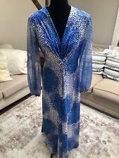 MARY MARTIN VINTAGE MAXI DRESS BLUE WHITE NO SIZE TAG
