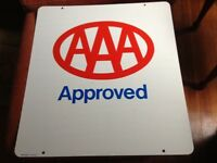 24 x 26 Original AAA Approved double sided heavy metal sign w/ hanging bracket