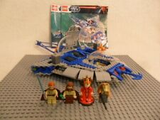 Lego Gungan Sub 9499 minifigures and instructions - no box & missing 1 pcs