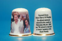 Farewell From Harry & Meghan Jan 2020 they retire from Royal Duties Thimble B/16