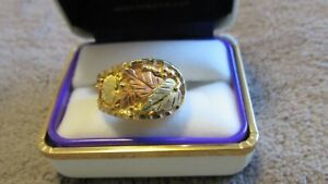 Black Hills Gold 12K & 10K SOLID TRI-COLOR ROSE GREEN YELLOW RING MEN'S SIZE 10