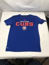 Chicago Cubs Adidas Youth Medium M 10/12 Blue Shirt