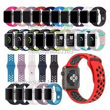 Ersatz Silikon Sport Band Armband für Apple Watch Series 3 2 1 Strap 38mm 42mm