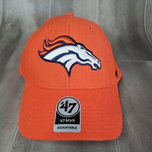 Denver Broncos '47 Brand NFL Orange Hook & Loop Cap Hat One Size OSFA