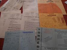 lot de pub - dépliant - catalogue - lettre - gant TORPEDO et REYNIER  ( ref 22 )