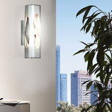 Wand Leuchte Glas Design Lampe Flur Büro Diele Beleuchtung Bad Spot Strahler ALU