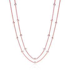 j-jaz 96.5cm Rosen gold beschichtet Sterling Silber Zirkonia Halskette