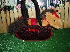 TOBY N.Y.C. PONY WITH BLACK AND RED CARRIER & HEARTS