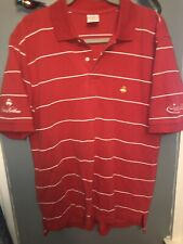 Brooks Brothers Performance Polo Red Striped Shirt Size L 100% Cotton