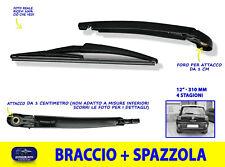 Tergicristallo posteriore Fiat 500 L Spazzole braccio spazzolante lunotto per in