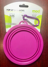 Dog Collapsible Bowl Silicone Pop Up Travel Pet Cat Food Water Feeder Portable