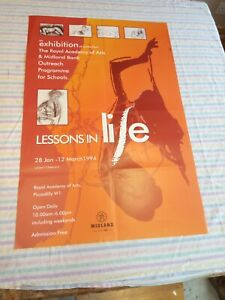"""Royal Academy Of Arts Poster lessons in life 1994 20"""" X 30"""""""
